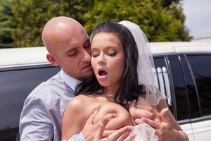Cheating bride gets penetrated