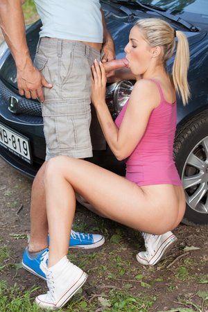 School Dame Christen Courtney Drills the Sports Teacher In the Forest