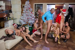 A Christmas Fuck-fest with Candy Alexa, Nataly Von, Tiffany Woman and More
