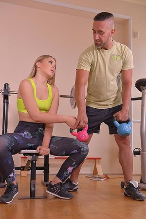 Weights & Bondage: Xxx Dual Anal invasion Invasion At The Gym